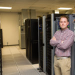 Ruddell in computing lab