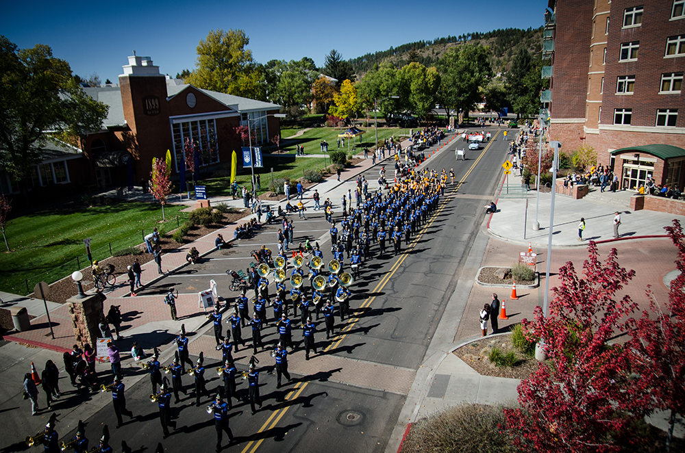 Band marches in NAU Homecoming parade