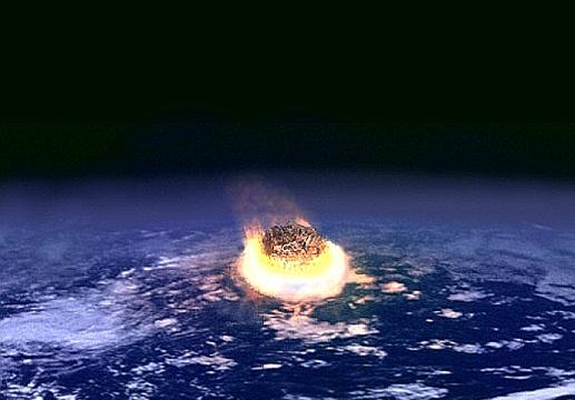 Meteor enters Earths atmosphere