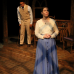 Northern Arizona University Department of Theatre majors Keegan Hughes, left and Grace Novak, right, perform in Tennessee Williams Summer and Smoke in fall 2017 at the Clifford White Theater on the Northern Arizona University Flagstaff campus.