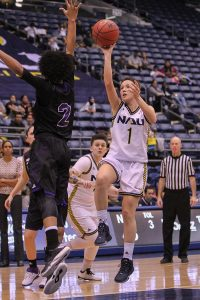 NAU basketball player Rene Coggins