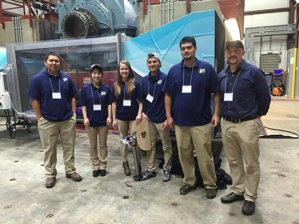 Engineering students at Wind Competiition