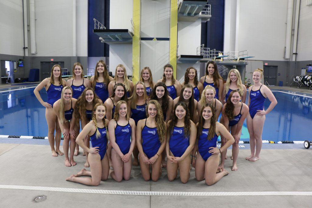 NAU swimming and diving team