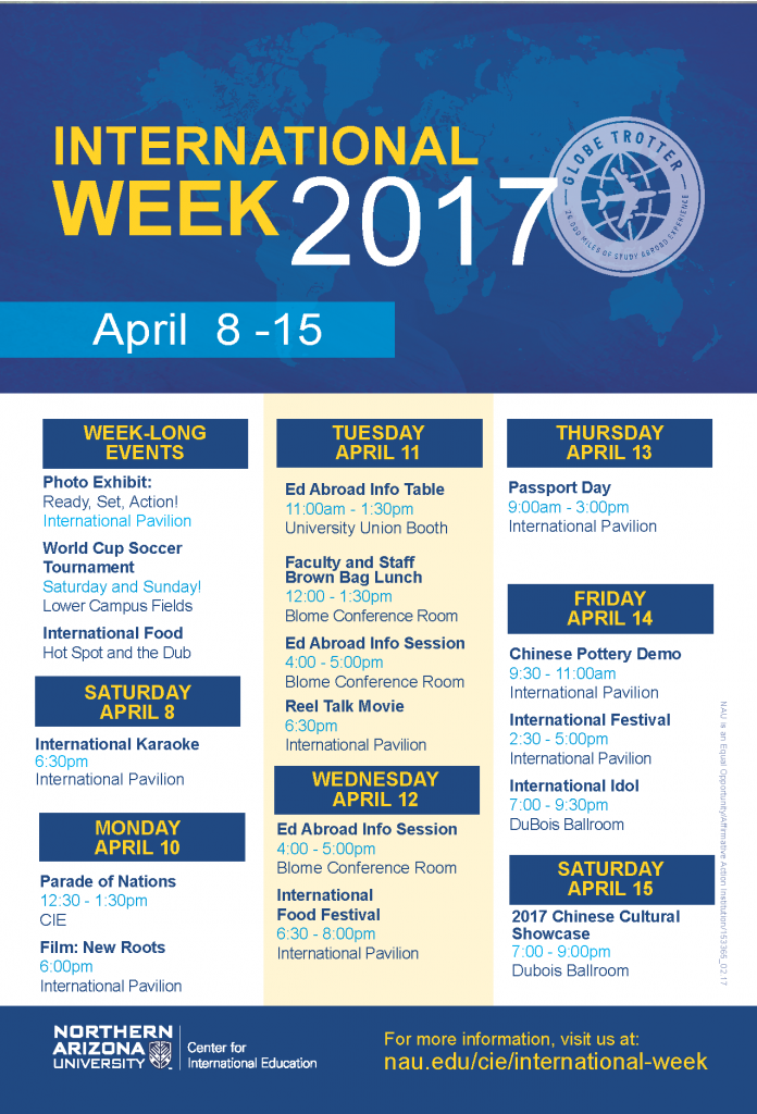 International Week calendar of events