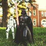 Star Wars characters outside Old Main