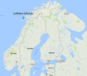 Lofoten Islands map