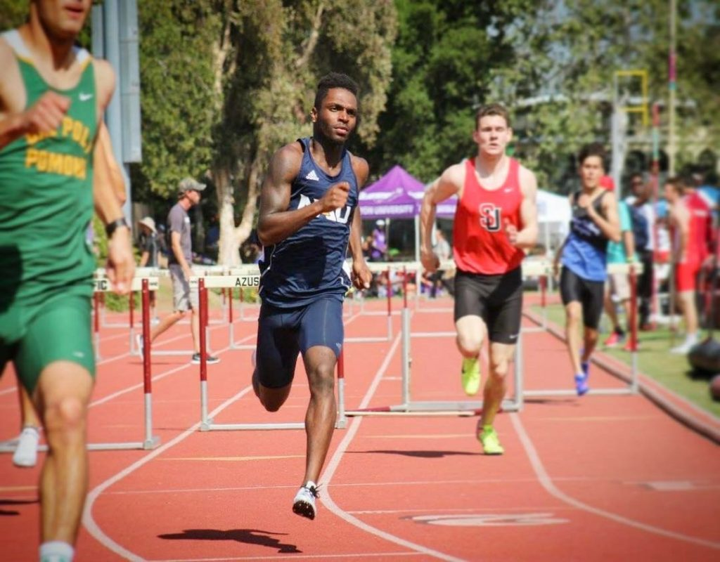 Lorenzo Johnson runs track