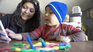 NAU Student works with area child