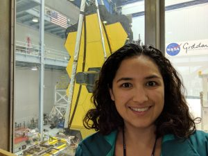 Cristina Thoma with James Webb Space Telescope