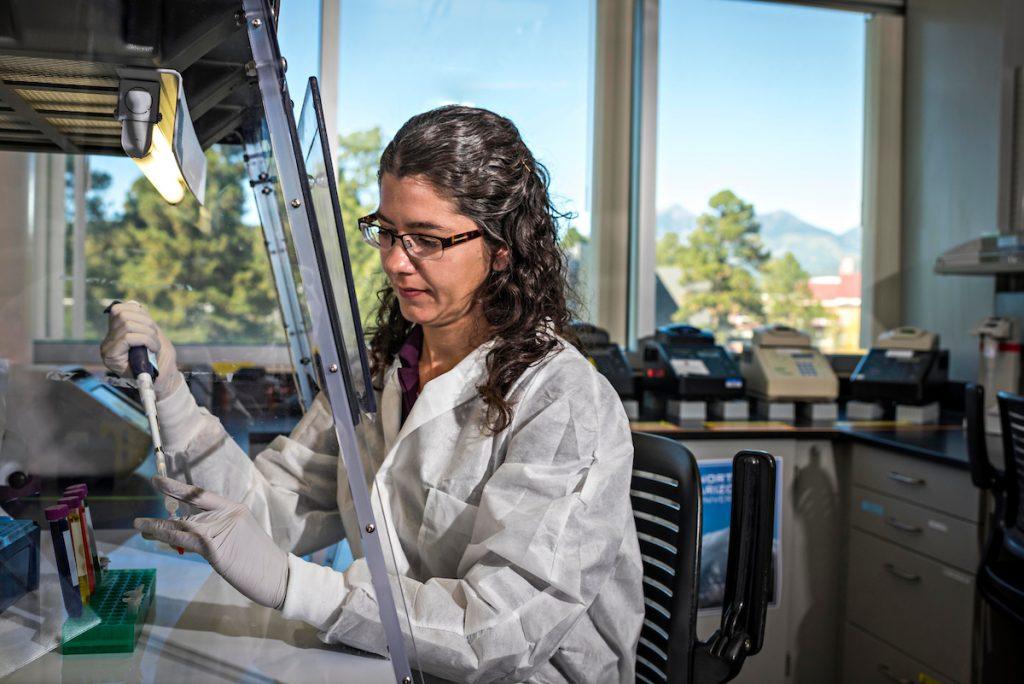 Emily Cope in lab