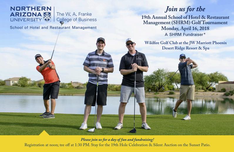 19th Annual School of Hotel & Restaurant Management golf tournament