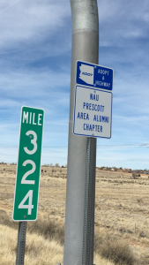 Prescott Valley alumni chapter adopt-a-highway sign