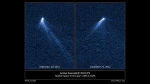 Images of active asteroids, or asteroids with tails