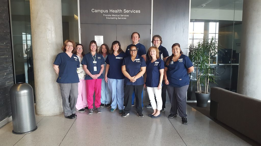 Nurses and medical assistant at Campus Health Services