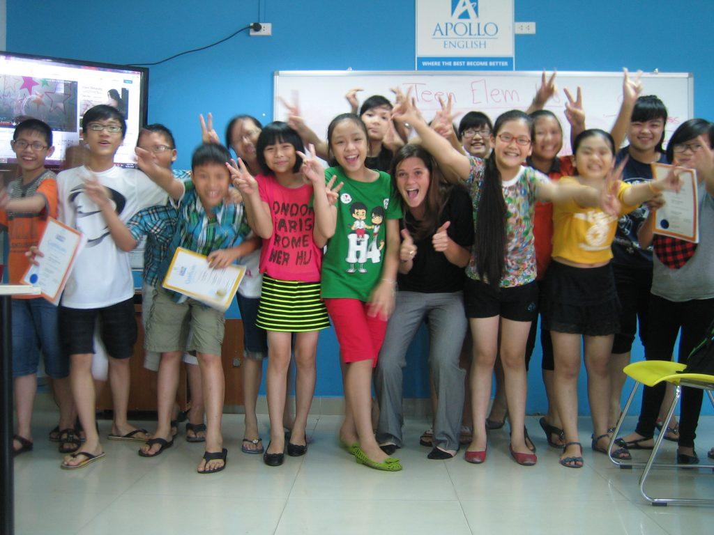 Margaret Wood teaching in Vietnam
