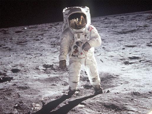 Man walking on moon