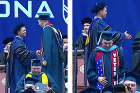 David Williams at commencement