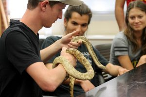 Students with gophersnake