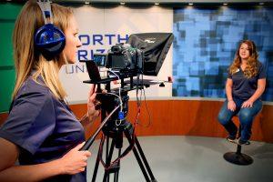 O'Connell records video in studio