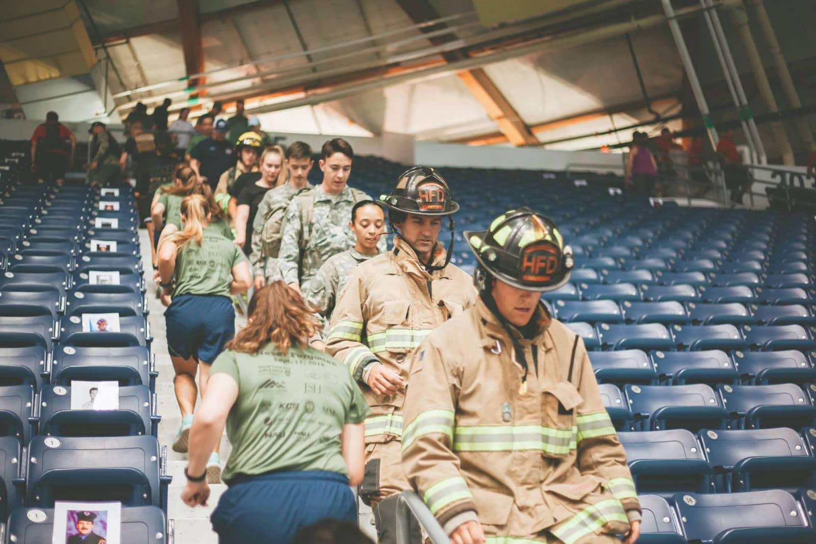 NAU community climbs stairs