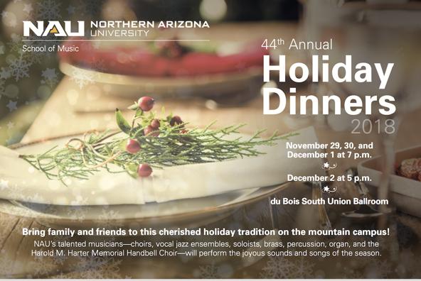 NAU Holiday Dinner poster