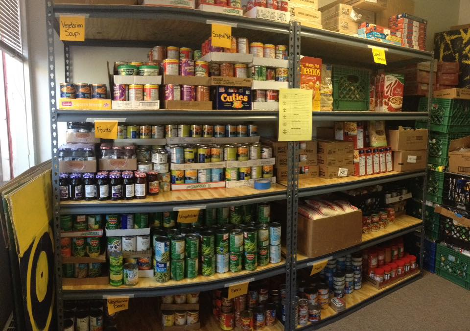stockpile of collected food