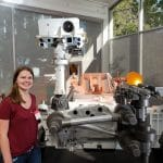 NAU student contributing to NASA's search for life on Mars by blowing up space rocks with robot lasers