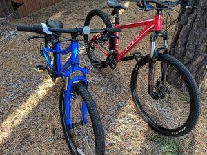 Bikes donated through the Adopt-a-Family program