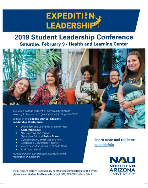 2019 Student Leadership Conference flier