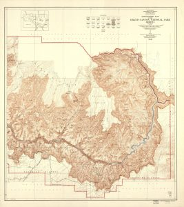 Topographic Map Grand Canyon National Park Arizona (East Half)