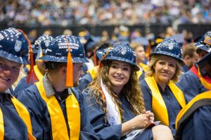 Construction management students at commencement