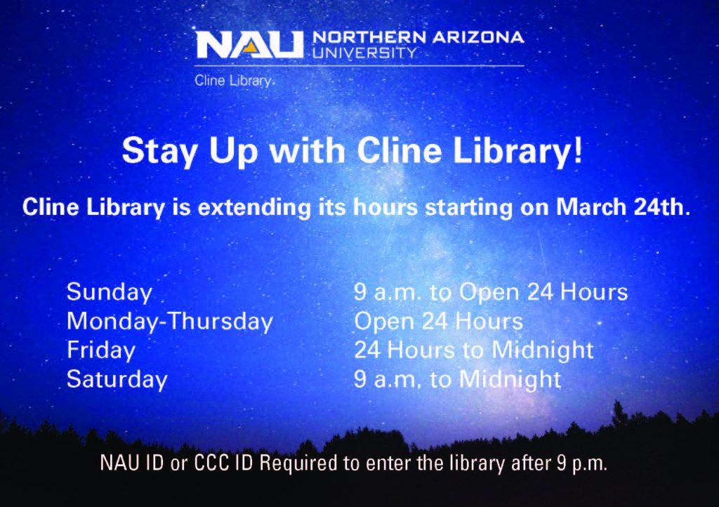 Cline Library hours