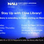 NAU's Cline Library extends semester hours