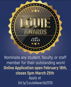 Poster for the Louie Awards