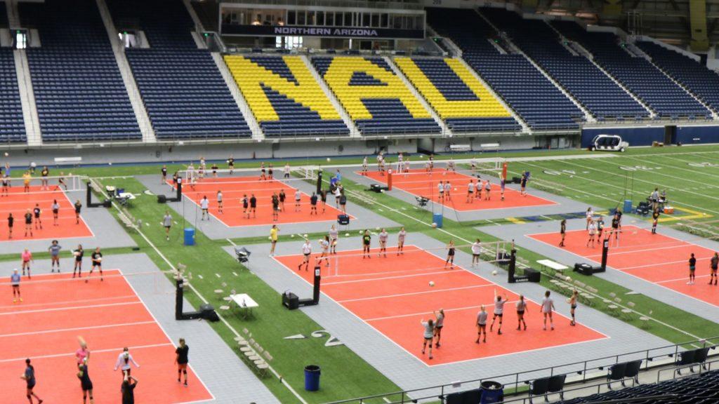 NAU volleyball camp