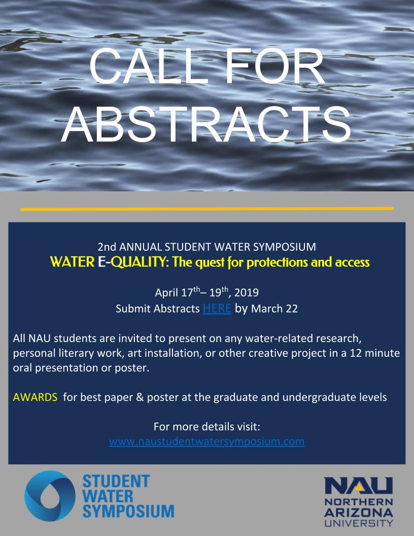 Call for abstracts poster