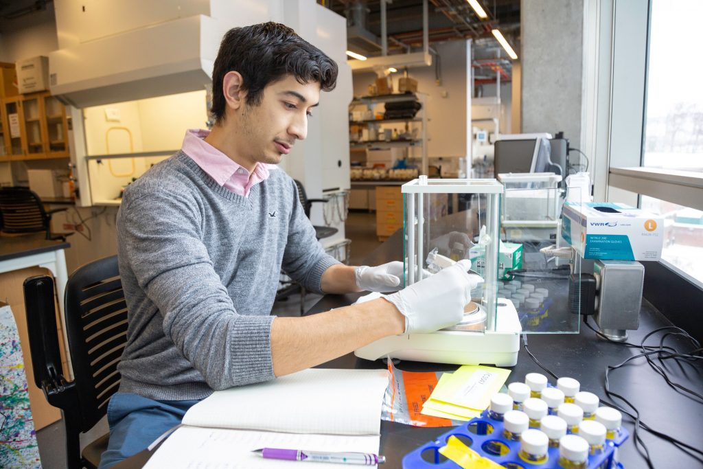 Joseph Espinoza in a lab