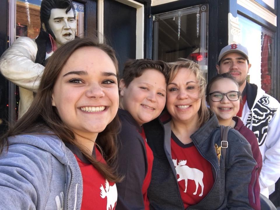 Billie McBride and her family