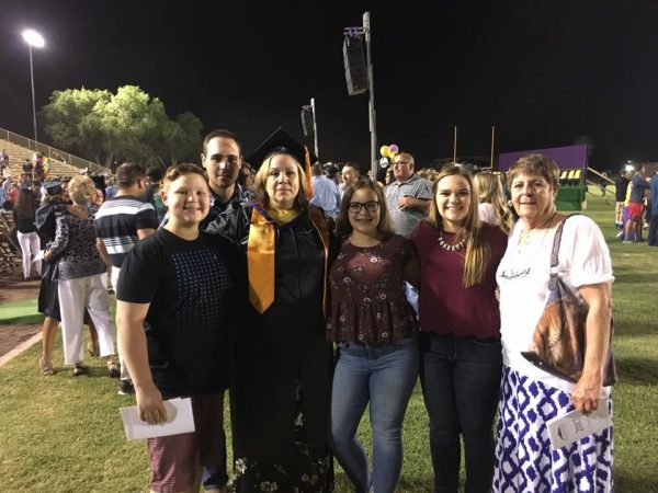 Billie McBride and family at EAC graduation
