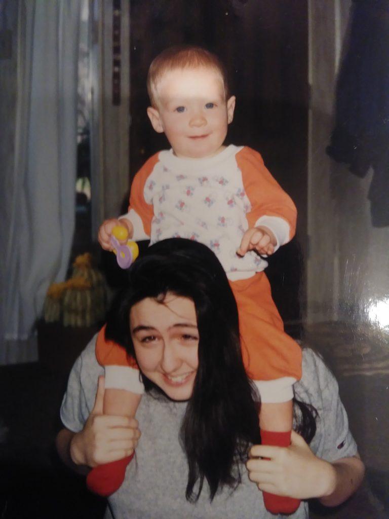 Garcia and her baby Daniel