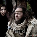 Crooked Figure Theatre Company's Emily Wood as the Fool, and Ben Alexander as King Lear.
