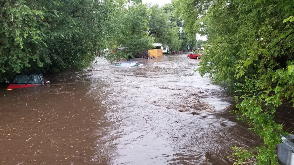 Downtown Flagstaff flooding
