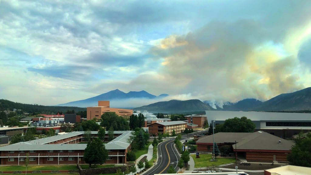 Fire as seen from NAU