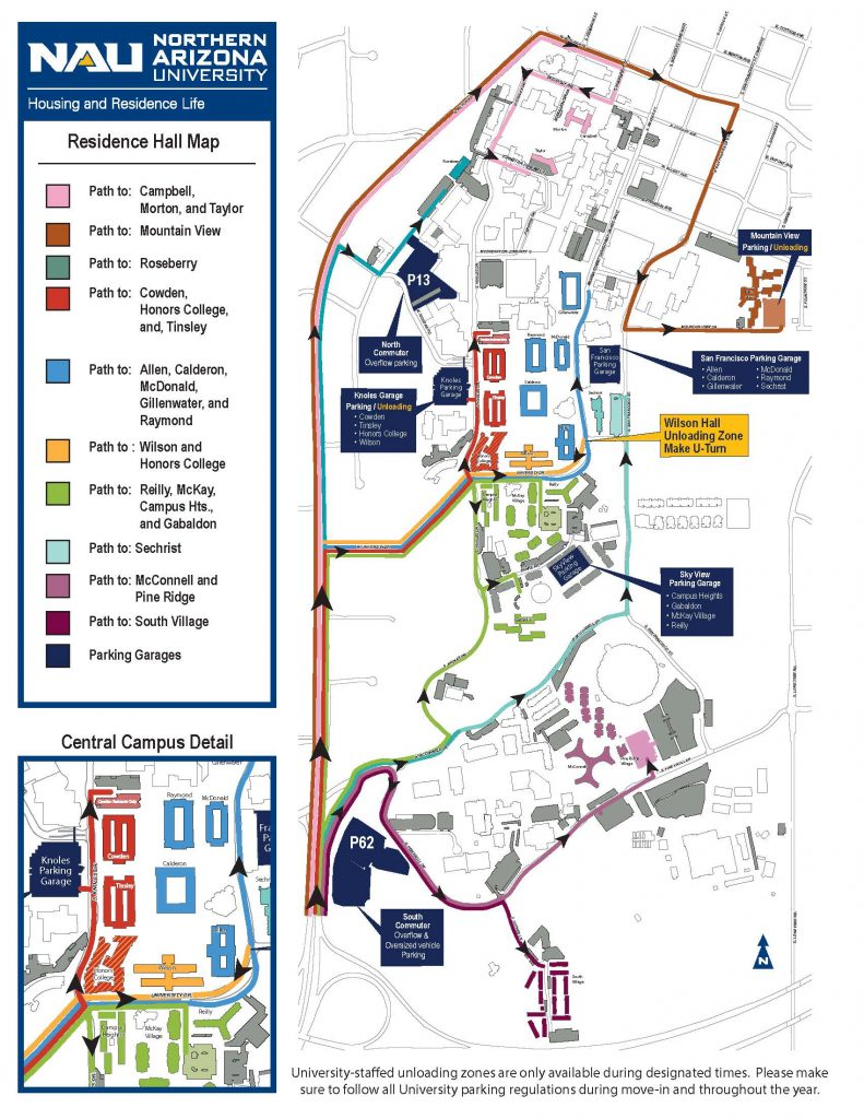 Campus move-in map