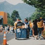 Students move in