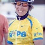 Anna Schwartz on a bike