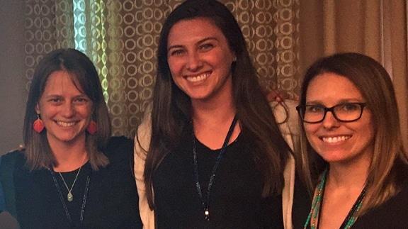Heather Williamson, Alissa Brennan and Samantha Tress