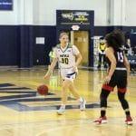 Nina Radford looks past a defender