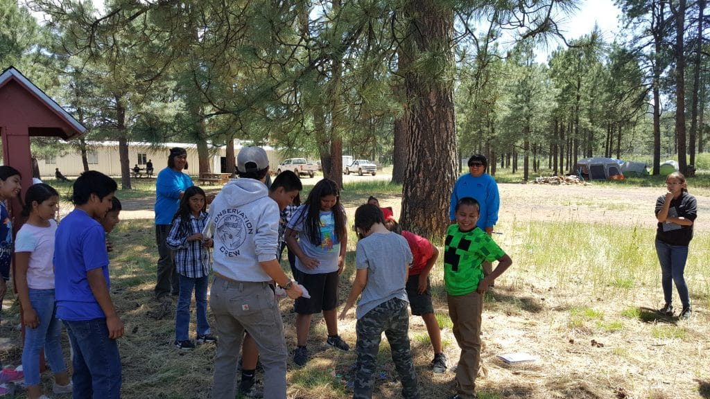 Crew at San Carlos Apache tribe