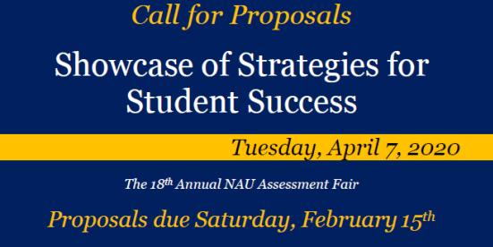 Call for proposals, 2020 Assessment Fair April 2020